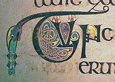 Decorated Initial Zoomorphic text Book of Kells.png