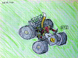 Armadillo the samurai on a quadbike 1024 by Digger Shrew 28 04 2009.jpg